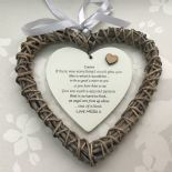 Shabby personalised Chic Special SISTER Present ~ ANY NAMES ~ Willow Heart Gift - 233008573203